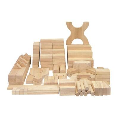 ECR4(r)Kids Solid Hardwood Building Block Set, 170-Piece