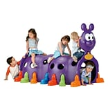 ECR4®Kids Peek-A-Boo Caterpillar Climbing Structure; Purple