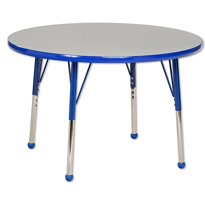"36"" Round T-Mold Activity Table, Grey/Blue/Toddler Ball"