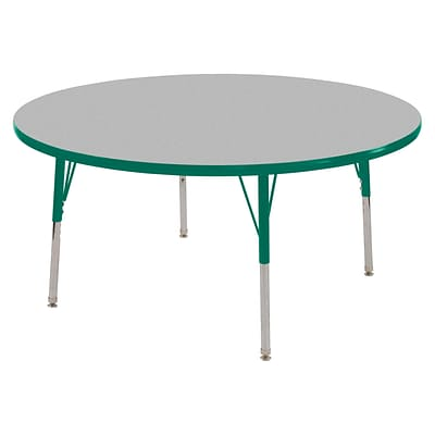 "60"" Round T-Mold Activity Table, Grey/Green/Toddler Swivel"