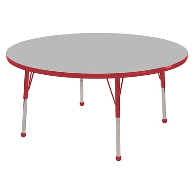 "36"" Round T-Mold Activity Table, Grey/Red/Toddler Ball"