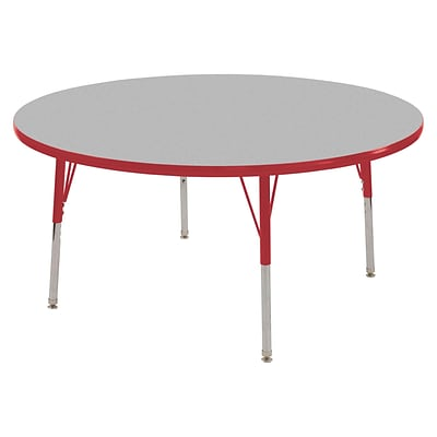 "30"" Round T-Mold Activity Table, Grey/Red/Toddler Swivel"