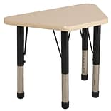 ECR4®Kids 18 x 30 Trapezoid Activity Table With Chunky legs & Standard Glide, Maple/Maple/Black
