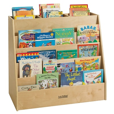 ECR4 Kids® Birch Display and Store Mobile Book Cart
