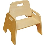 ECR4®Kids 6(H) Stackable Wooden Toddler Chair, Natural