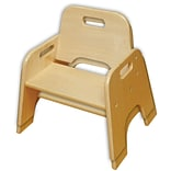 ECR4®Kids 10(H) Stackable Wooden Toddler Chair, Natural, 2/Pack