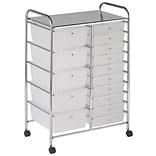ECR4®Kids 15 Drawer Plastic Mobile Organizer, White