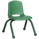ECR4®Kids 6/Pack Green 10(H) Plastic Stack Chairs