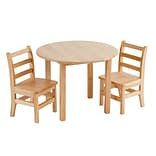ECR4®Kids 30(H) Round Table and 2 Chairs, Natural
