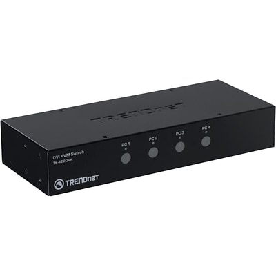 TRENDnet® 4 Port USB/DVI KVM Switch Kit