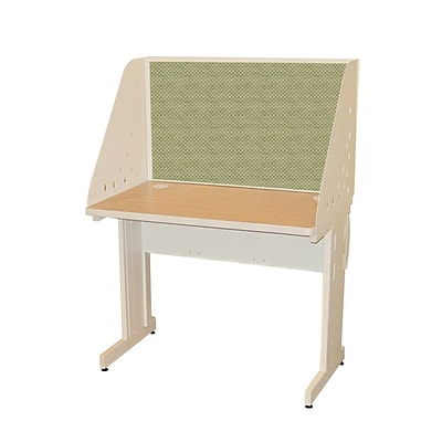Marvel® Pronto® Putty 42 x 30 Laminate Training Table W/Carrel & Lockable Raceway, Peridot