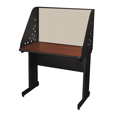 Marvel® Pronto® Dark Neutral 36 x 24 Laminate Training Table W/Carrel & Modesty Panel, Chalk
