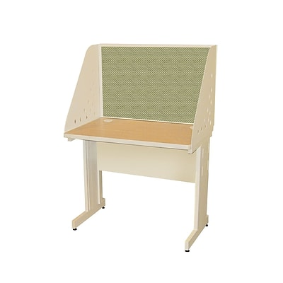 Marvel® Pronto® Putty 36 x 24 Laminate Training Table W/Carrel & Modesty Panel, Peridot