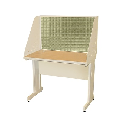 Marvel® Pronto® Putty 42 x 24 Laminate Training Table W/Carrel & Modesty Panel, Peridot