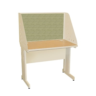 Marvel® Pronto® Putty 42 x 30 Laminate Training Table W/Carrel & Modesty Panel, Peridot