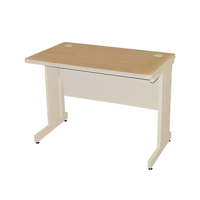 Marvel® Pronto® 42 x 30 Laminate School Training Table W/Modesty Panel Back, Oak/Pumice
