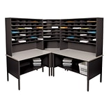 Marvel® Mailroom 70 -  78 x 90 x 90 84 Slot Corner Literature Organizer; Black