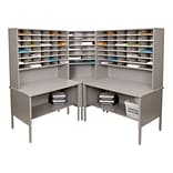 Marvel® Mailroom 70 -  78 x 90 x 90 84 Slot Corner Literature Organizer; Gray