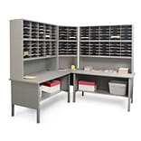 Marvel® Mailroom 70 -  78 x 90 x 30 120 Slot Corner Literature Organizer; Gray