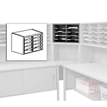 Marvel® Mailroom 16 x 24 x 14 10 Pockets Utility Sorter with Shelves; Gray