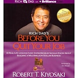 Rich Dads Before You Quit Your Job Robert T. Kiyosaki CD