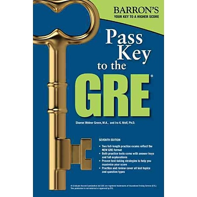 Pass Key to the GRE Sharon Weiner Green M.A , Ira K. Wolf Ph.D Paperback