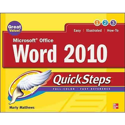 Microsoft Office Word 2010 Quicksteps Marty Matthews Paperback