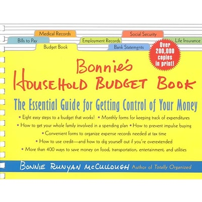 Bonnies Household Budget Book (Plastic Comb)