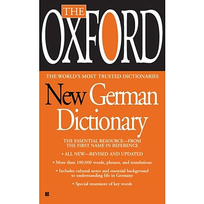 The Oxford New German Dictionary Oxford University Press Mass Market Paperback