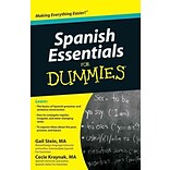 Spanish Essentials For Dummies Gail Stein, Mary Kraynak Paperback