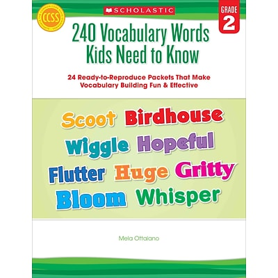 240 Vocabulary Words Kids Need to Know: Grade 2 Mela Ottaiano Paperback