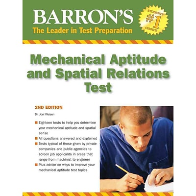 Barrons Mechanical Aptitude and Spatial Relations Test