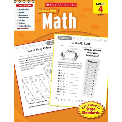 Scholastic Success With Math, Grade 4