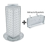 Azar Displays 13H x 4W x 4D Pegboard Counter Gift Card Holder Clear