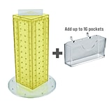 Azar Displays 13H x 4W x 4D Pegboard Counter Gift Card Holder Yellow