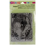 Stampendous® 4 x 5 1/4 Christmas Cling Rubber Stamp, Train Postcard