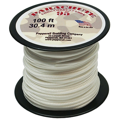 Pepperell 100 95 Parachute Cord, White
