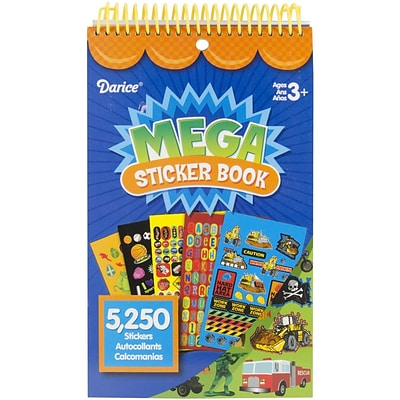 Darice® Mega Sticker Book, 9 1/2 x 6, Boy