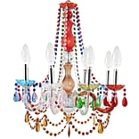 Modway Palace Acrylic Chandelier, Multicolored