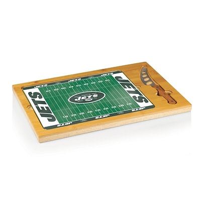 Picnic Time® NFL Licensed Icon New York Jets Digital Print Cutting Board; Natural Wood