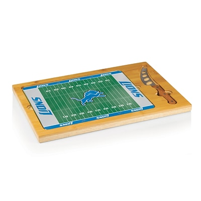 Picnic Time® NFL Licensed Icon Detroit Lions Digital Print Cutting Board; Natural Wood