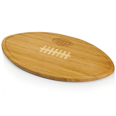 Picnic Time® NFL Licensed Kickoff New York Jets Engraved Cutting Board; Natural Wood