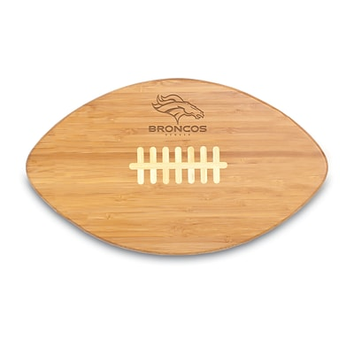Picnic Time® NFL Licensed Touchdown Pro! Denver Broncos Engraved Cutting Board; Natural