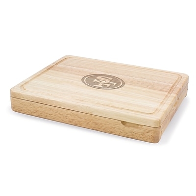Picnic Time® NFL Licensed Asiago San Francisco 49Ers Engraved Cutting Board W/Tools; Natural Wood