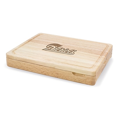 Picnic Time® NFL Licensed Asiago New England Patriots Engraved Cutting Board W/Tools; Natural Wood
