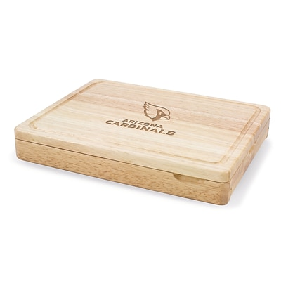 Picnic Time® NFL Licensed Asiago Arizona Cardinals Engraved Cutting Board W/Tools; Natural Wood