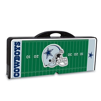Picnic Time® NFL Licensed Dallas Cowboys Digital Print ABS Plastic Sport Picnic Table, Black
