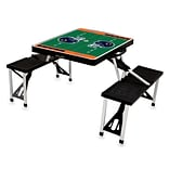 Picnic Time® NFL Licensed Chicago Bears Digital Print ABS Plastic Sport Picnic Table, Black