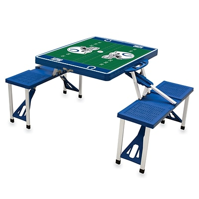 Picnic Time® NFL Licensed Indianapolis Colts Digital Print ABS Plastic Sport Picnic Table, Blue