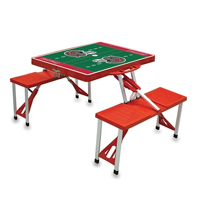 Picnic Time® NFL Licensed Tampa Bay Buccaneers Digital Print ABS Plastic Sport Picnic Table, Red